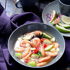 柠檬紫苏泡海虾