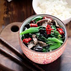 牛肉木耳炒菜心