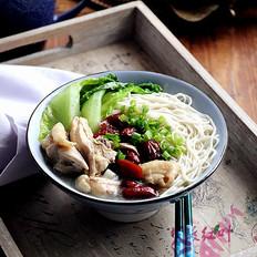 红枣鸡汤拌面