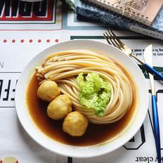 咖喱墨鱼丸拌意大利面