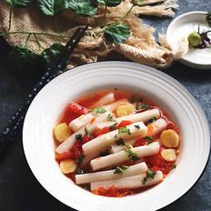 年夜饭硬菜之番茄姜汤煮年糕