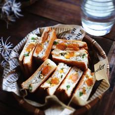 咸蛋黄米饭三文治