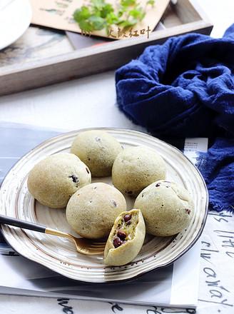 抹茶红豆麻薯包的做法