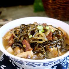 五花肉海带炖豆腐