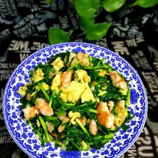韭菜鸡蛋炒虾仁