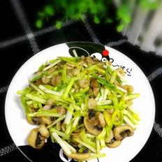 蒜黄口蘑青虾仁