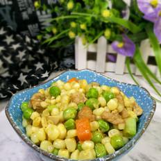 玉米粒豌豆炒肉
