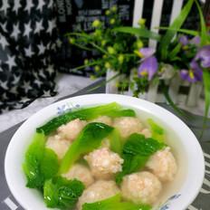 小白菜虾丸汤的做法大全
