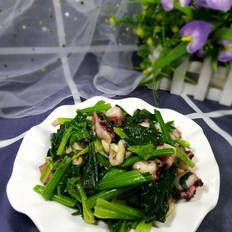 菠菜拌章鱼足