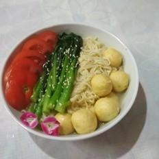 咖喱鱼蛋面