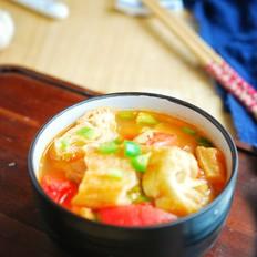 番茄油条汤