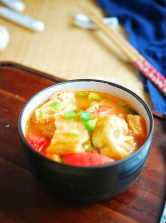番茄油条汤的做法