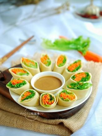 豆皮生菜卷的做法