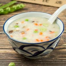 香菇肉末豌豆粥