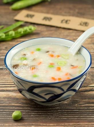 香菇肉末豌豆粥的做法