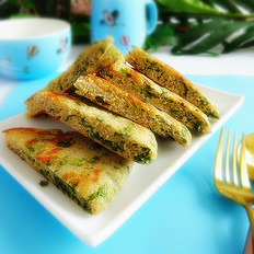 芹菜叶发面饼