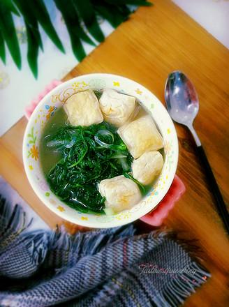 婆婆丁豆腐汤的做法