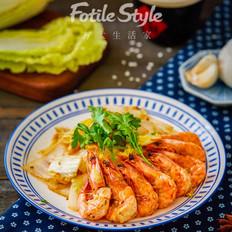鲜虾炒白菜