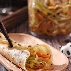 河南烙馍卷大拌菜