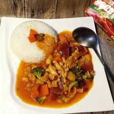 咖喱番茄鸡肉饭