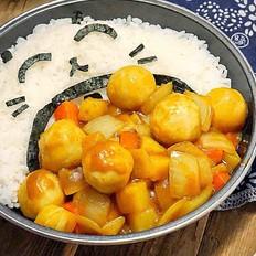 咖喱鱼蛋饭