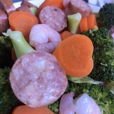 黑椒牛肉肠蔬菜色拉