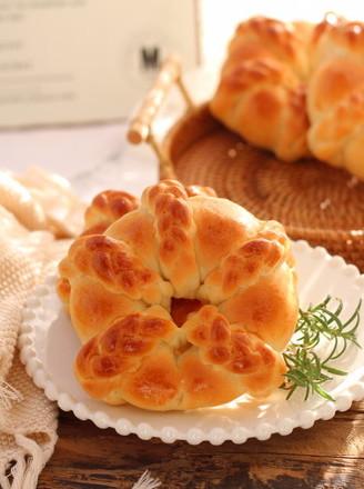 椰蓉花环面包的做法