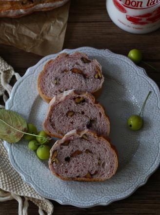 紫薯坚果软欧的做法