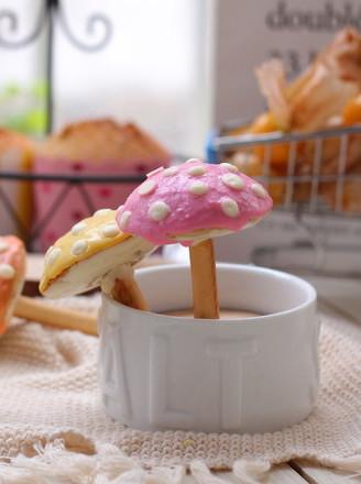 彩色小蘑菇蛋糕的做法