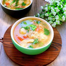 肉末疙瘩汤