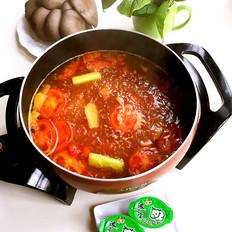 番茄牛肉浓汤火锅
