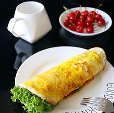 生菜鸡蛋卷饼