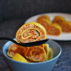 猪肉香菇鸡蛋卷