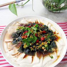 松花蛋豆腐