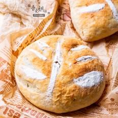 全麦紫米肉松面包