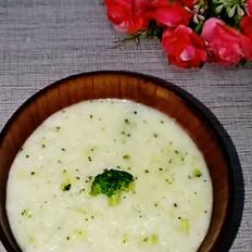 西兰花蛋黄粥