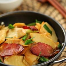 腊肉炒冬笋
