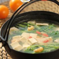 豆腐豆苗肉片汤