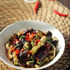 剁椒香菜拌茄条