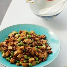 肉末干子炒毛豆米