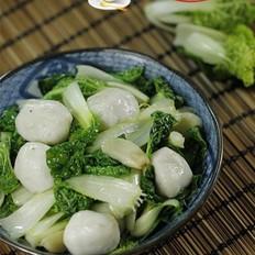 鱼丸炒小白菜