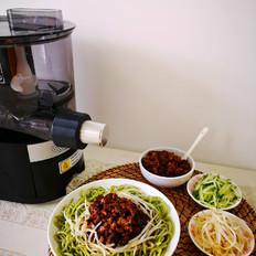 香菇肉酱菠菜面