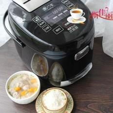 三丸汤(冬瓜南瓜汆丸汤)VS低糖米饭