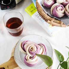 紫薯玫瑰馒头