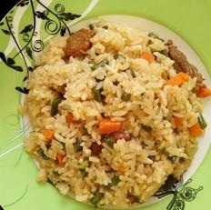 豇豆角焖肉饭