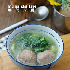 牛肉丸青菜汤