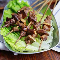 烤豆干羊肉串