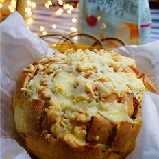 杂蔬沙拉烤面包
