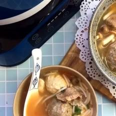茄汁菌菇牛肉丸子汤
