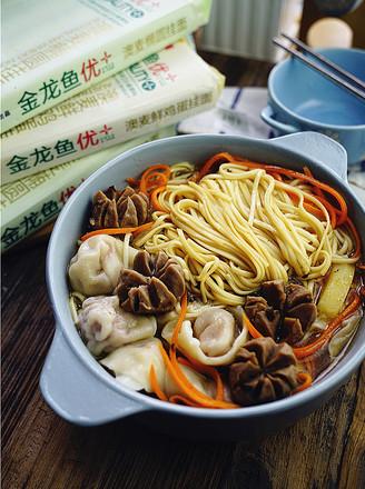 肉丸餛飩湯面的做法